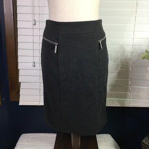 Michael Kors Gray Pencil Skirt Size 2